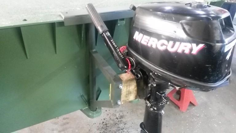 Buitenboordmotorsteun